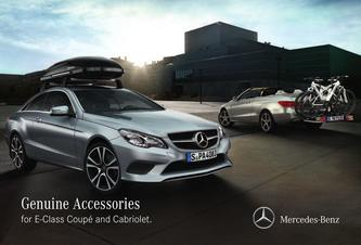 Genuine Accessories for E-Class Coupé and Cabriolet 2016