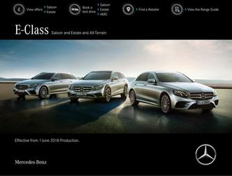 E-Class Saloon and Estate and All-Terrain June 2018
