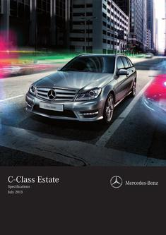 C-Class Estate Specifications July 2013