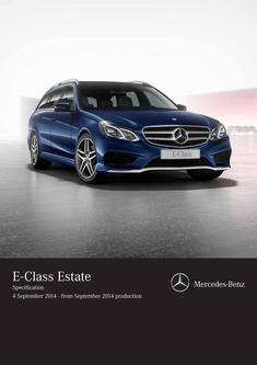 E-Class Estate Specification 4 September 2014 - from September 2014 production