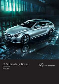 CLS Shooting Brake Specification March 2014
