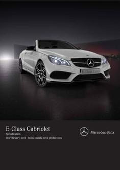 E-Class Cabriolet Specifications 2015