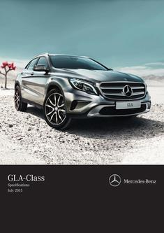 GLA SUV Specifications 2015