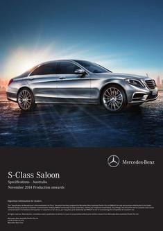 S-Class Specifications 2015
