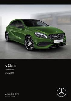 A-Class Specifications January 2018