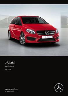 B-Class Specifications June 2018