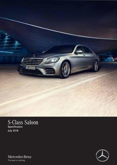 S-Class Saloon Specification July 2018