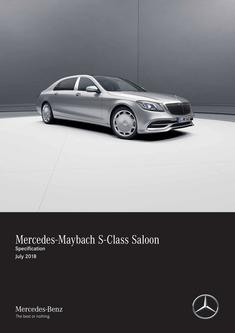 Mercedes-Maybach S-Class Saloon Specification July 2018