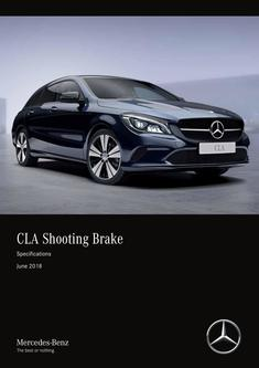 CLA Shooting Brake Specifications June 2018