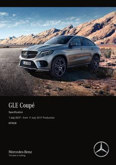 GLE Coupé Specification 1 July 2017 - from 11 July 2017 Production MY808