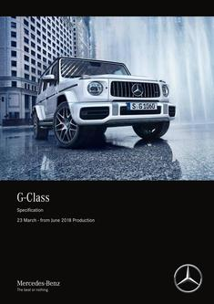 G-Class Specification 23 March - from June 2018 Production
