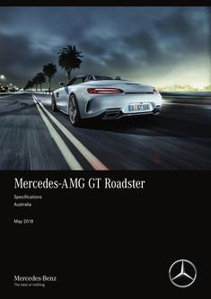 Mercedes-AMG GT Roadster Specifications Australia May 2018