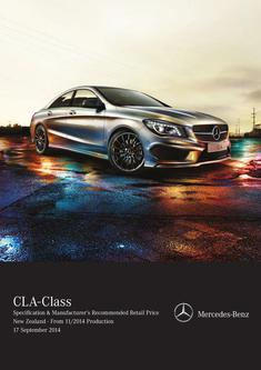 CLA-Class Specification & Manufacturer's Recommended Retail Price 11/2014