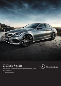 C-Class Sedan Specification & Manufacturer's Recommended List Price 2014