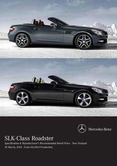 SLK-Class Roadster Specification & Retail Price 06/2014