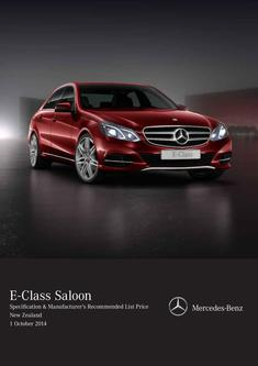 E-Class Saloon Specification & Recommended List Price 2014