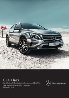 GLA-Class Specification & Recommended List Price 12/2014