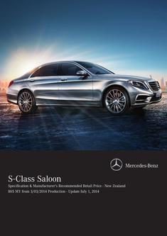 S-Class Saloon Specification & Recommended Retail Price 3/03/2014