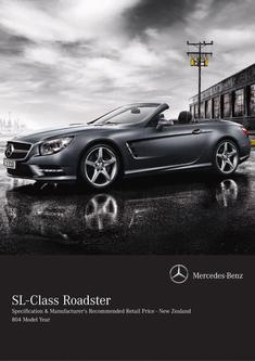 SL-Class Roadster Specification & Recommended Retail Price 2014