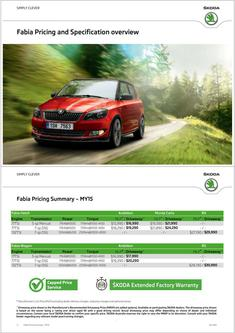 Skoda Fabia Prices & Equipment 2014