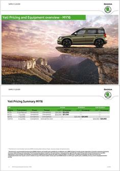 Skoda Yeti Prices & Equipment 2015