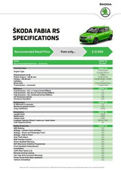 Fabia RS Specifications 2014