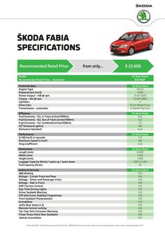 Fabia Hatch Specifications 2014