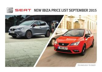 New Ibiza Price List 2015