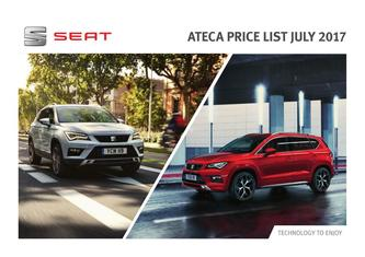 Seat Ateca Price List July 2017