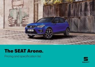 SEAT Arona. Pricing and specification list may 2019