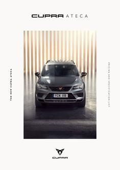 Cupra Ateca Pricelist april 2019