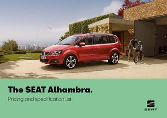 SEAT Alhambra. Pricing and specification may 2019