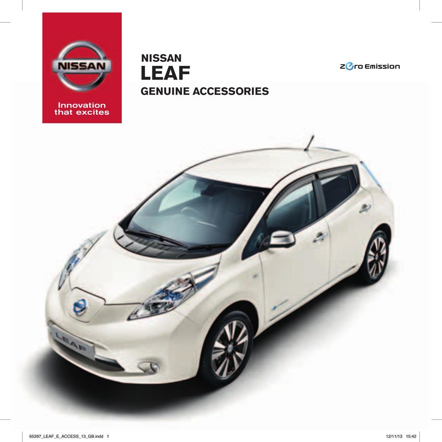 Nissan Leaf Accessories 2015 By Nissan Great Britain