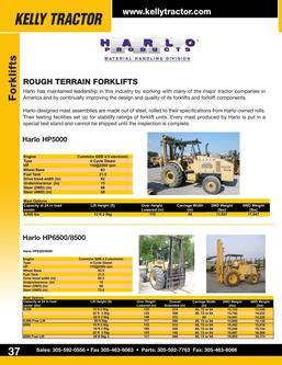 Harlo Rough Terrain Forklifts 2014