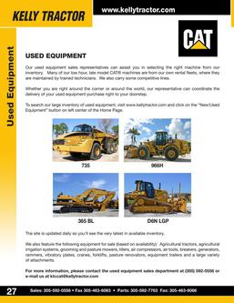 CAT Used Equipment And Parts 2014