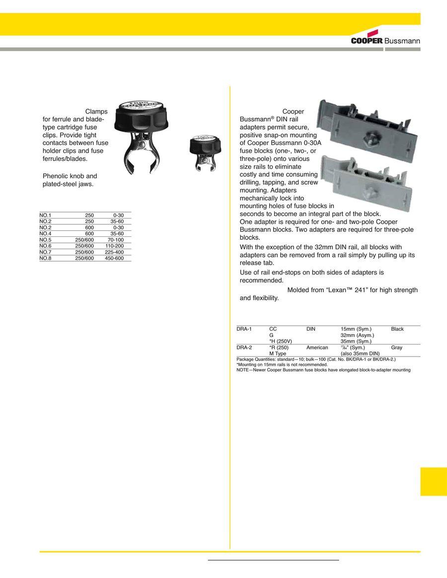 Accessories 2015 By Cooper Bussmann Fuse Box Cartridge P 1 8