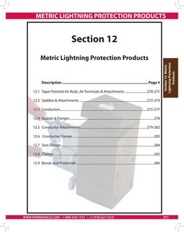 Metric Lightning Protection Products 2015