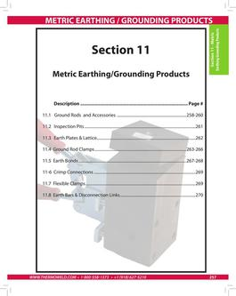 Metric Earthing Protection Products 2015