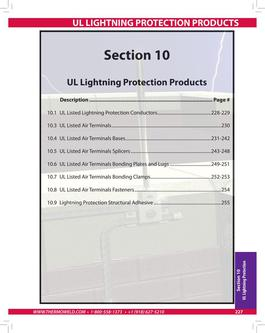 UL Lightning Protection Products 2015