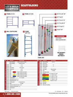 Scaffolding Equipment Rental 2015