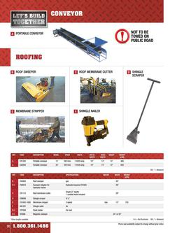 Conveyor & roofing equipment rental 2015