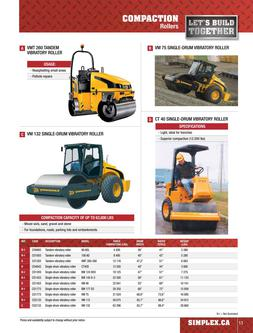 Compaction Equipment Rental 2015