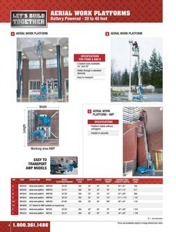 Aerial work platforms rental 2015
