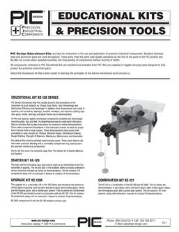 Educational Kits and Precision Tools 2015