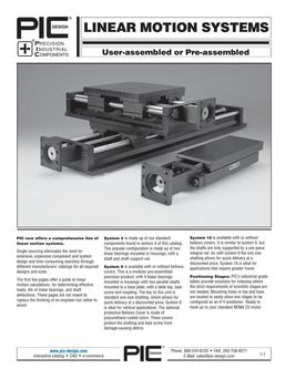 Linear Motion Systems 2015
