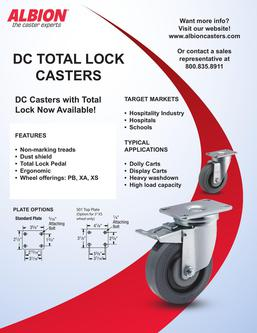 DC Casters with Total Lock