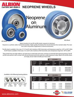 Neoprene on Aluminum Wheels