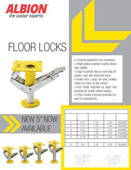 Ergonomic Floor Locks