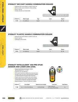 Stanley Electronic Layout Tools 2015