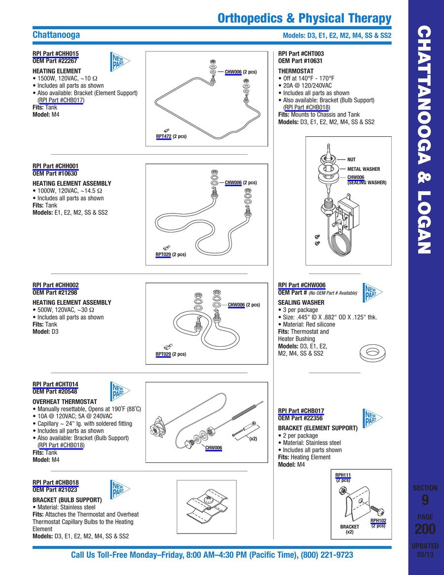Orthopedics Physical Therapy 2015 By Replacement Parts Industries M2 Hydrocollator Wiring Diagram Inc